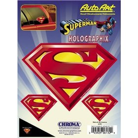 Show details of Superman Holographic Decal.