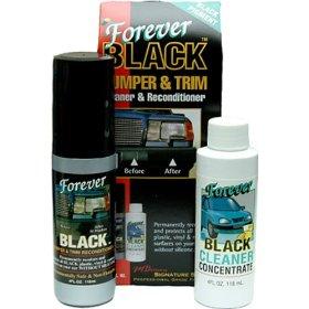 Show details of Forever Black Bumper & Trim Dye Kit.