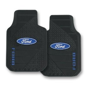 Show details of Ford Factory Style Trim-To-Fit Molded Passenger/Driver Front Floor Mats - Set of 2.