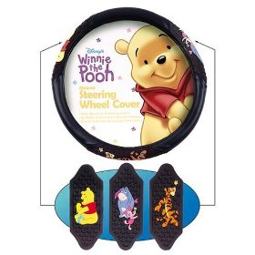 Show details of Winnie The Pooh And Friends Steering Wheel Cover.