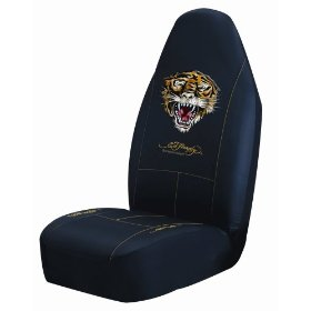 "Show details of Ed hardy ""Tiger"" Bucket Seatcover."
