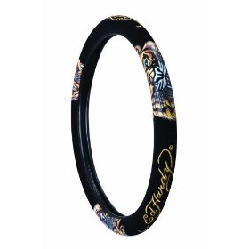 "Show details of Ed hardy ""Tiger"" Steering Wheel Cover."