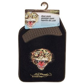 "Show details of Ed hardy ""Tiger"" Floor Mats."