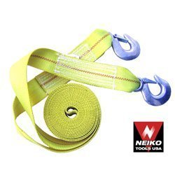 Show details of Heavy-Duty 10,000 Lb Tow - Rescue Strap with Hooks - 10,000 Lb Capacity.