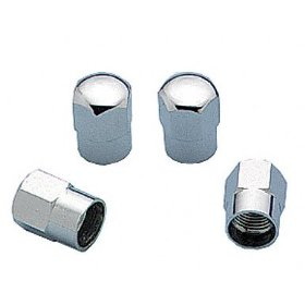 Show details of Mr. Gasket 3663 Chrome Hex Valve Stem Cap.