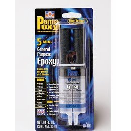 Show details of Permatex 84101 PermaPoxy 5 Minute General Purpose Epoxy -- Crystal Clear.