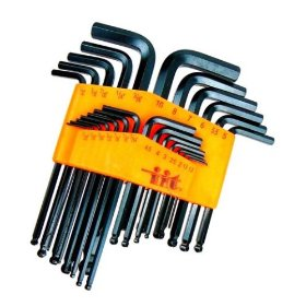 Show details of Pro-Grade 25-Piece Hex Wrench Set - Ball Ends - SAE & Metric - LIFETIME WARRANTY!.