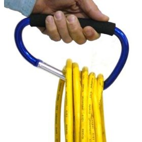 "Show details of Extra-Large 6-1/2"" Snap Hook - Carabiner Carry Handle with Soft-Grip."