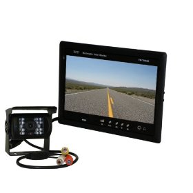 "Show details of 120� Angle Mounted Box Backup Camera with a 7"" monitor (Dash mount included)."