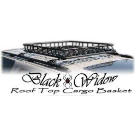 Show details of Black Widow Roof Rack Storage Basket.