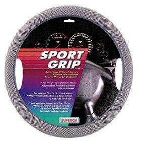 Show details of Superior 58-1140 Slip-On, Gray Mesh Steering Wheel Cover.