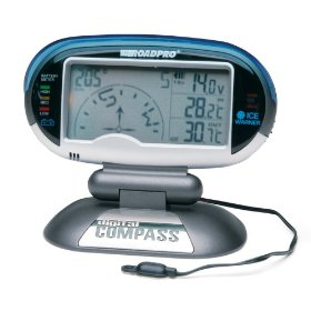 Show details of Roadpro Digital Compass, Inside & Outside Temperature, Voltage Meter and Ice Alert.