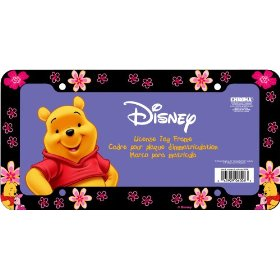 Show details of Disney's Winnie the Pooh License Plate Frame (Plastic).