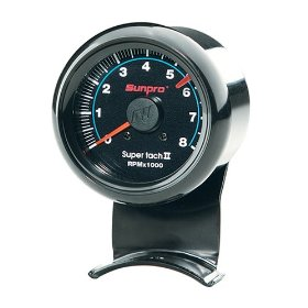 Show details of Sunpro CP7906 Mini Super Tachometer II - Black Dial.