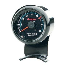 Show details of Sunpro CP7906 Mini Super Tachometer II - Black Dial.