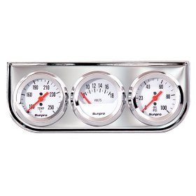 Show details of Sunpro CP8208 Triple Gauge Kit - White Dial.