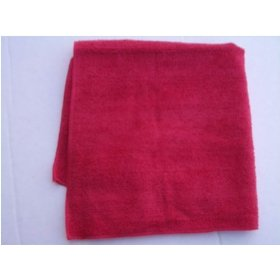 Show details of Red Real Clean All Purpose Plush Microfiber Bargain Towel.
