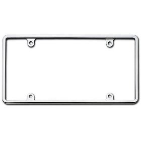 Show details of Cruiser Accessories 21330 Slim Rim, Chrome License Plate Frame.