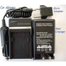 Show details of Synergy Digital Rapid Battery Charger For Nikon EN-EL9 Battery 110/220 v with Car Adapter and European Adapter.