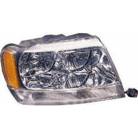 Show details of 99-01 JEEP GRAND CHEROKEE HEADLIGHT RH (PASSENGER SIDE) SUV, Limited (1999 99 2000 00 2001 01) 20-5575-91 55155552AE.