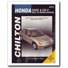 Show details of Honda Civic (2001-04) and CR-V (2002-04) Repair Manual.
