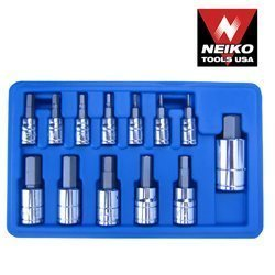 Show details of Pro-Grade 13-Piece Hex Wrench Bit Socket Set - SAE SAE.