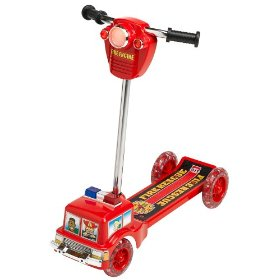 Show details of Fire Engine Scooter with Lights and Sounds.