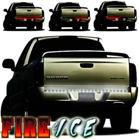 "Show details of Plasmaglow Fire & Ice LED Tailgate Bar60"" Fire & Ice Rear L.E.D. Tailgate Lite Bar (Fullsize pickups and SUV's)."