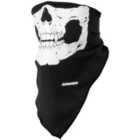 Show details of Schampa Lightweight Skull Facemask Black OSFA.