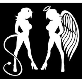Show details of Angel Devil Girl Decal 2..