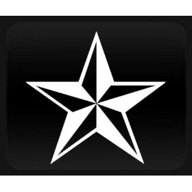 Show details of Nautical Star White Sticker Decal.