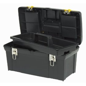 Show details of Stanley Consumer Storage 024013R 24-inch Series 2000 Tool Box with Tray.