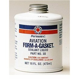 Show details of Permatex 80017 Aviation Form-A-Gasket #3 Sealant, 16 oz. Bottle.