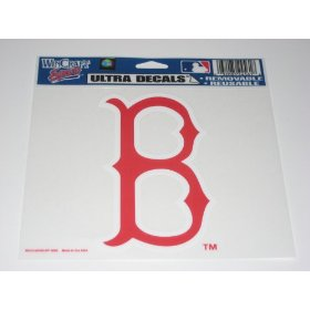 Show details of Boston Red Sox Cap Logo Ultra Decal Cling.