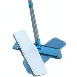 Show details of Simplee Cleen Microfiber Household Swivel Mop Kit with Two Microfiber Pads.