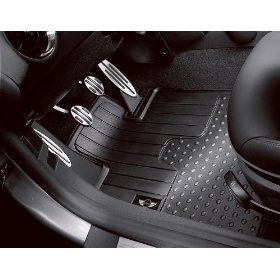 Show details of MINI Cooper and Clubman 2007 2008 2009 All Weather FRONT Floor Mats Black.