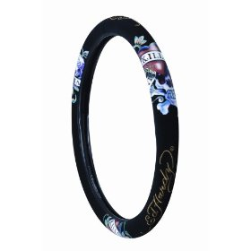 "Show details of Ed Hardy ""Love Kills"" Steering Wheel Cover."