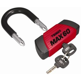 Show details of Trimax MAX60 Red Short Shackle U-Lock with PVC Sleeve.