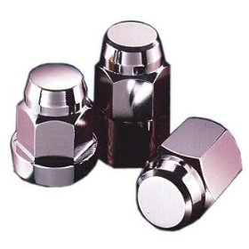 Show details of McGard 64010 Chrome Bulge Cone Seat Style Lug Nut (1/2-20 Thread Size) - Pack of 4.