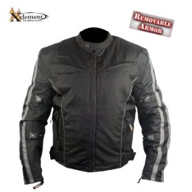 Show details of Men's Black and Gray Vented Cordura Jacket - Size : 4XL.