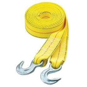 "Show details of Highland 10177 30' x 2"" Tow Strap with Hooks, 10,0 pound capacity."