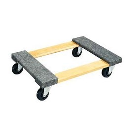 Show details of JET 140106 WDC-3018 Hardwood Dolly with Carpet Ends.