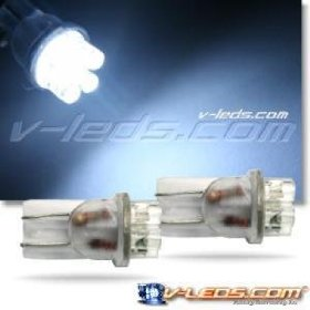 Show details of 2 HID WHITE 6 LED LIGHT BULBS 194 168 158 2825 W5W s.