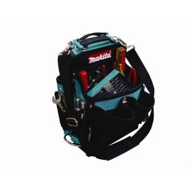 Show details of Makita 821021-A 17-Pocket Electrician Pouch w/ Tape Clip.