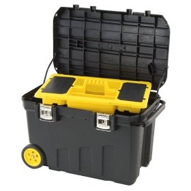 Show details of Stanley Consumer Storage 029025R 24 Gallon Mobile Chest.