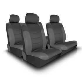 Show details of UNIVERSAL CAR SEAT COVER FOR MIDSIZE AND COMPACT CARS FULL SET - GREY.