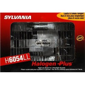Show details of Sylvania H6054LL Halogen Plus Headlight.