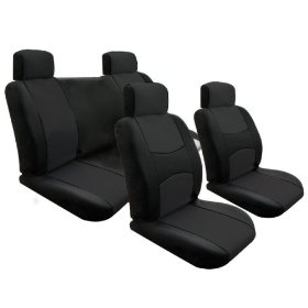 Show details of Free Upgrade Any Shipping Service to Priority Mail (Only Takes About 2-3days.) Univerisal Car Seat Cover Full Set Solid Black.