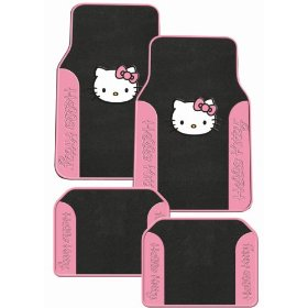 Show details of Hello Kitty Sanrio Pink Front & Rear Carpet Auto Car Truck SUV Mats.