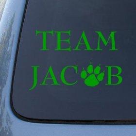 Show details of TEAM JACOB - Twilight - Vinyl Car Decal Sticker #1474 | Vinyl Color: Green.
